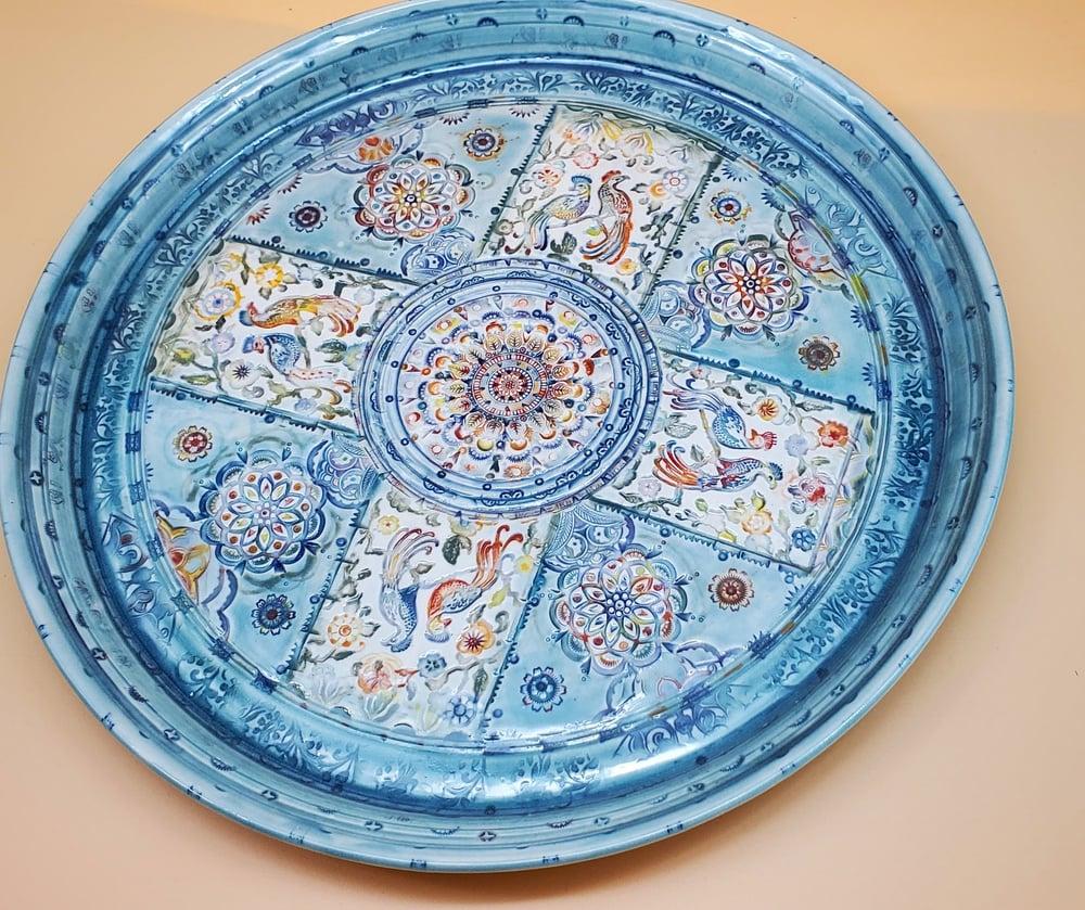 Image of Exotic Bird Porcelain Platter
