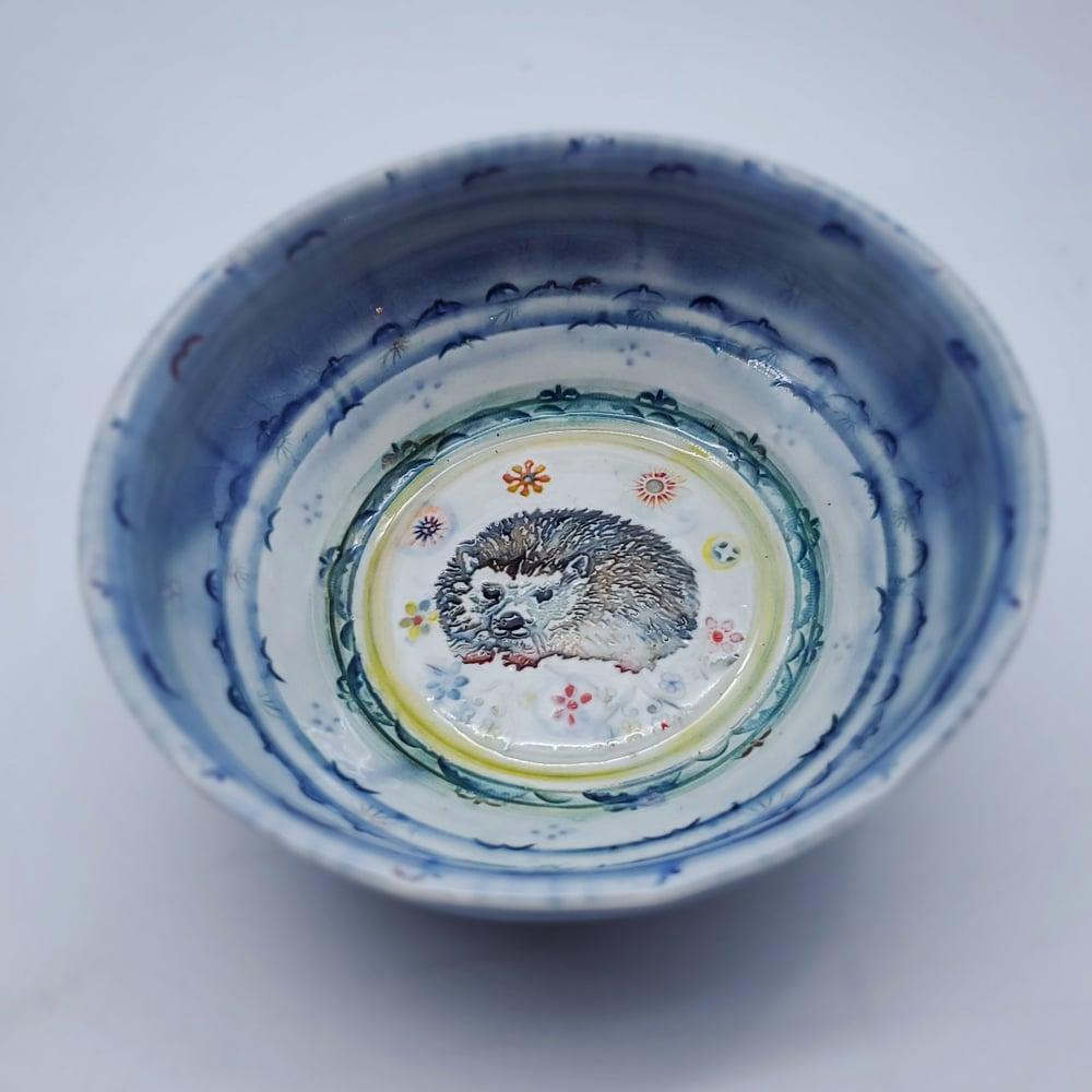 Image of Hedgehog Handpainted Porcelain Dish
