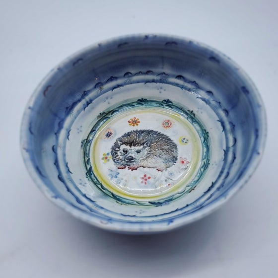 Image of Hedgehog Handpainted Porcelain Dish
