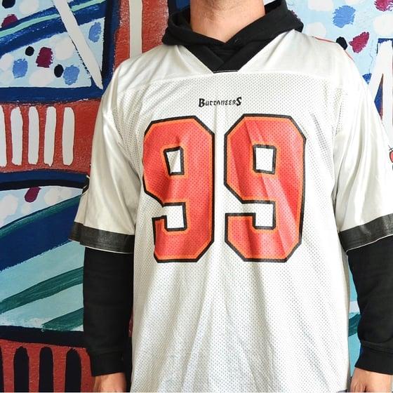 Image of Vintage 2000's Tampa Bay Buccaneers Warren Sapp Reebok Jersey Sz.L