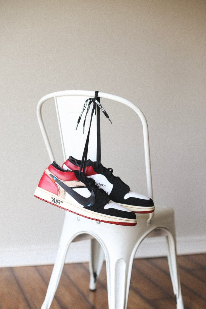 "Image of Black toe 1 low ""off-white"" inspired"