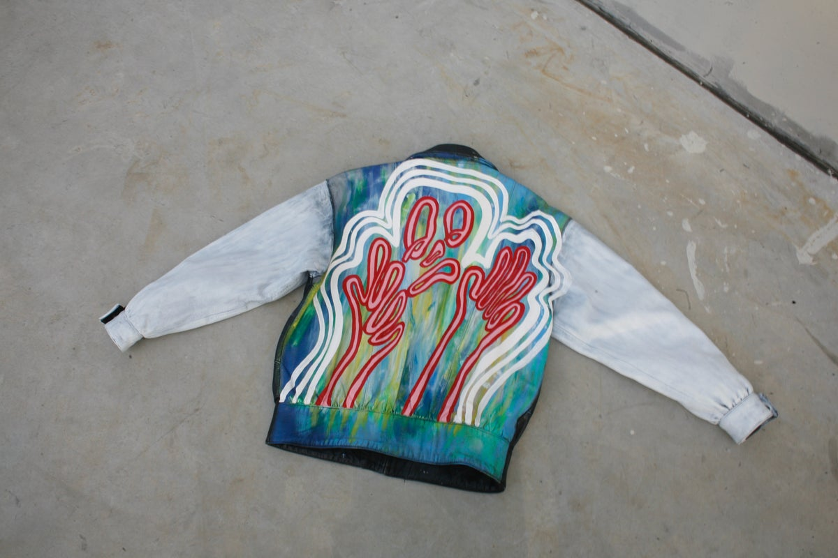 Image of Hand-Painted Jacket by Anna Kukla