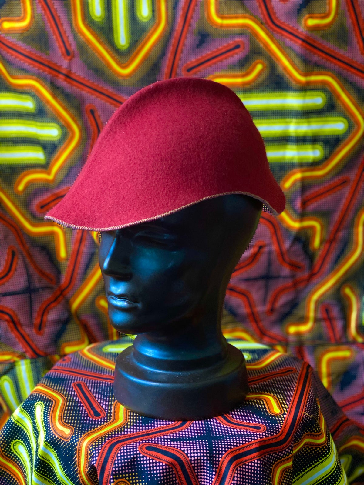 Image of Red felt Cap,