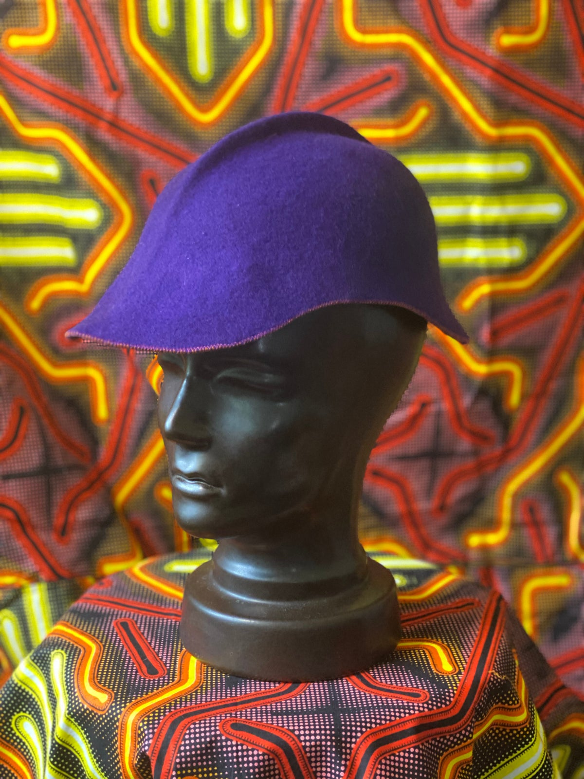 Image of Purple Felt Cap