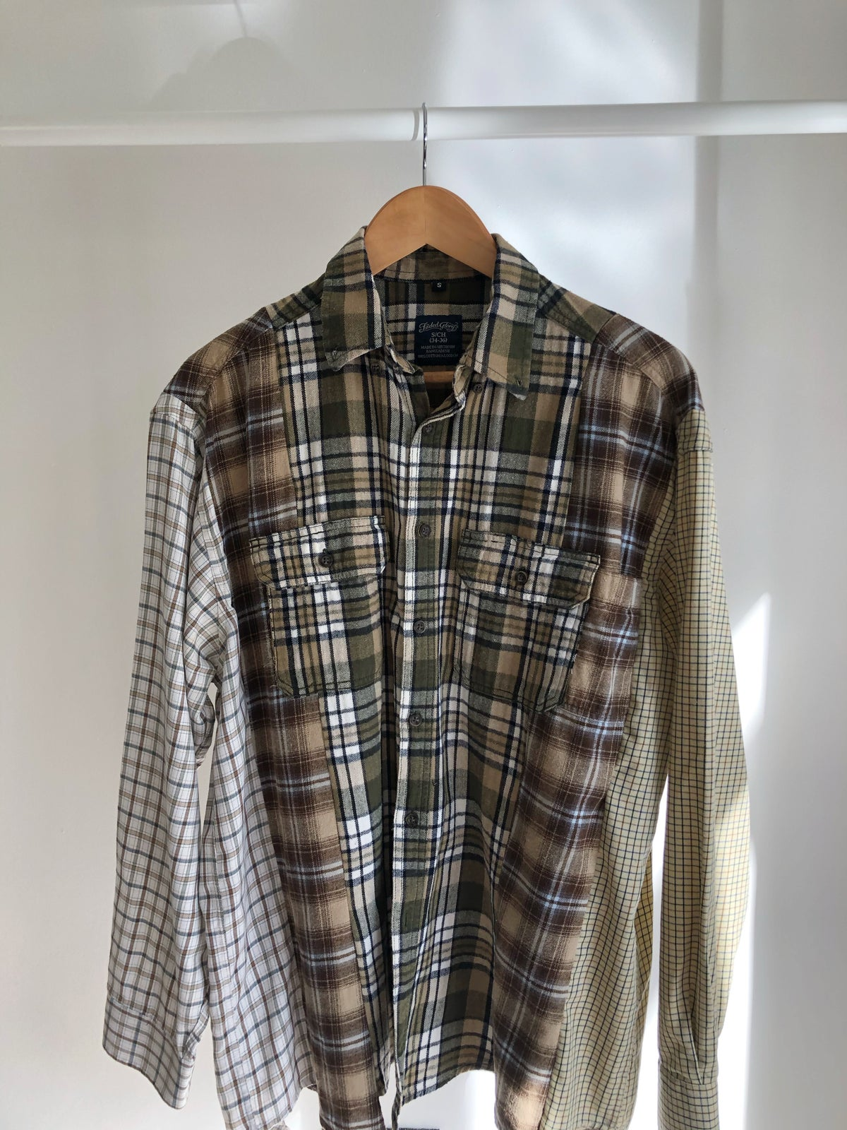 Reconstructed Checked Shirt