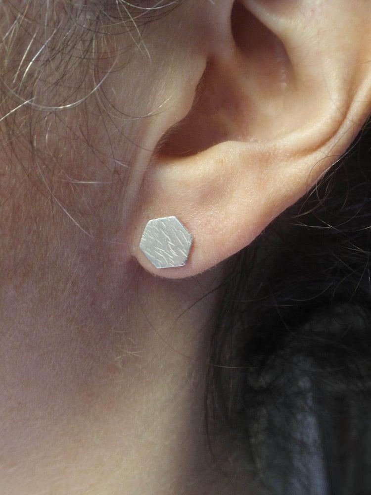 Image of Hexagon Earrings