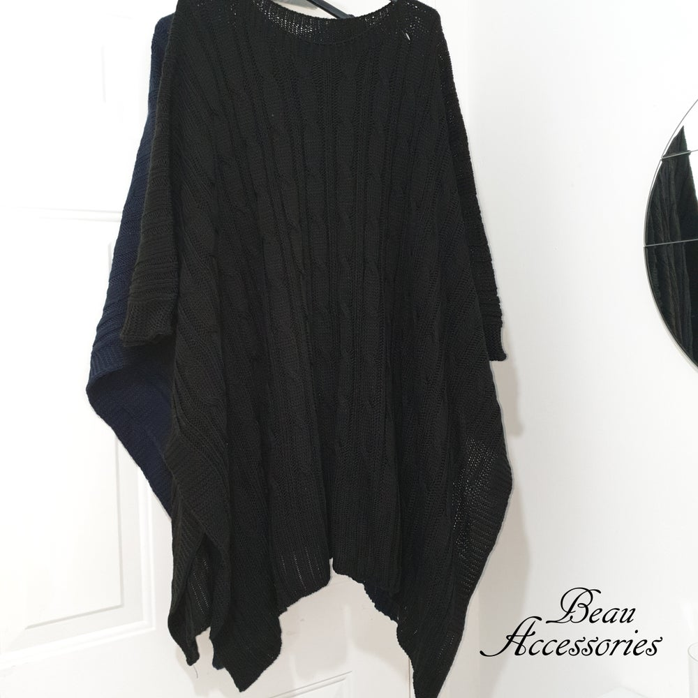Image of Cable Knit Poncho