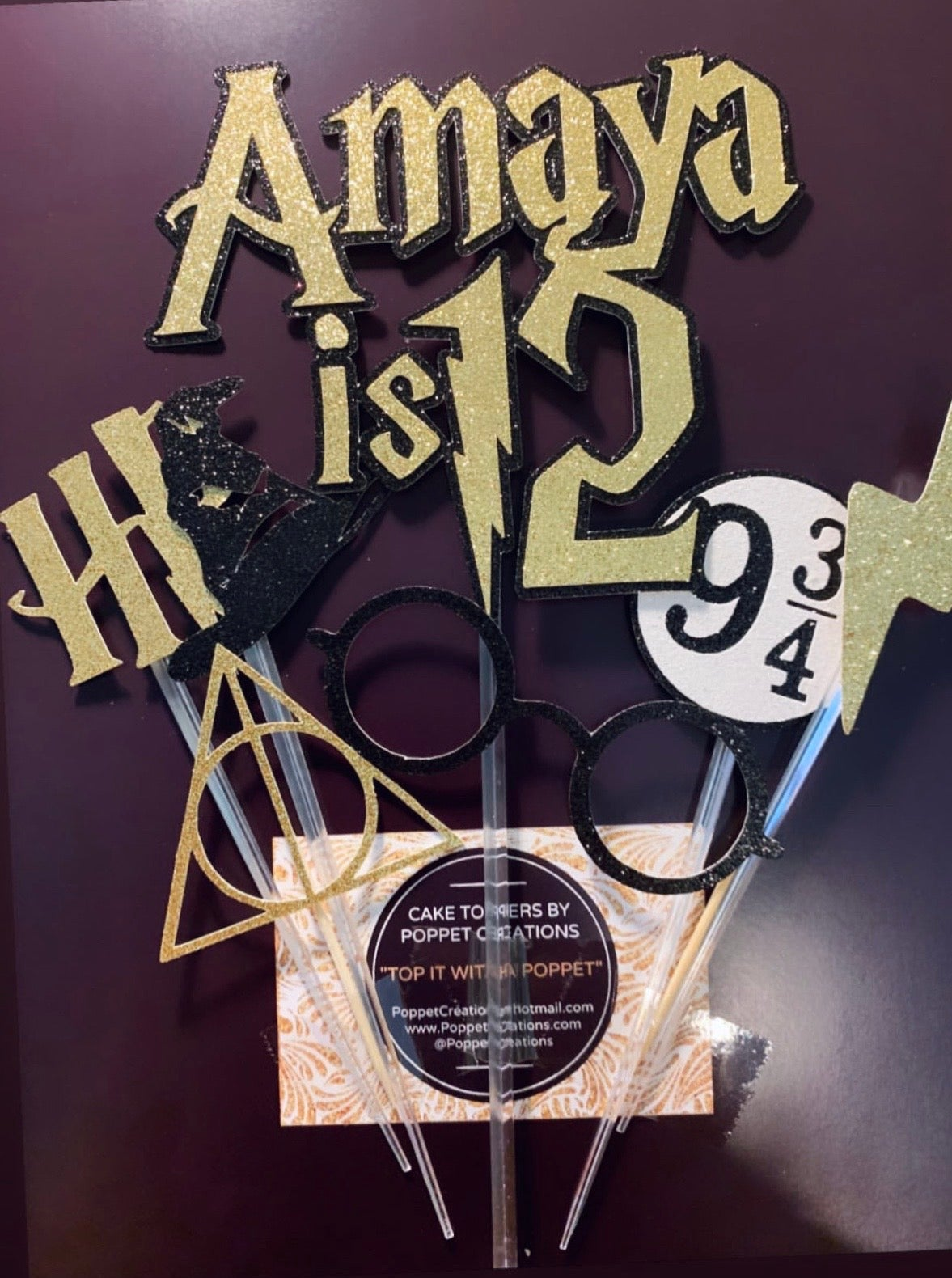 Image of Harry Potter themed set of toppers