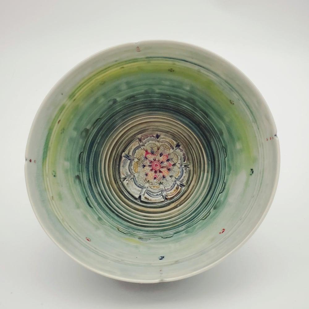 Image of Pistachio Mandala Porcelain Bowl
