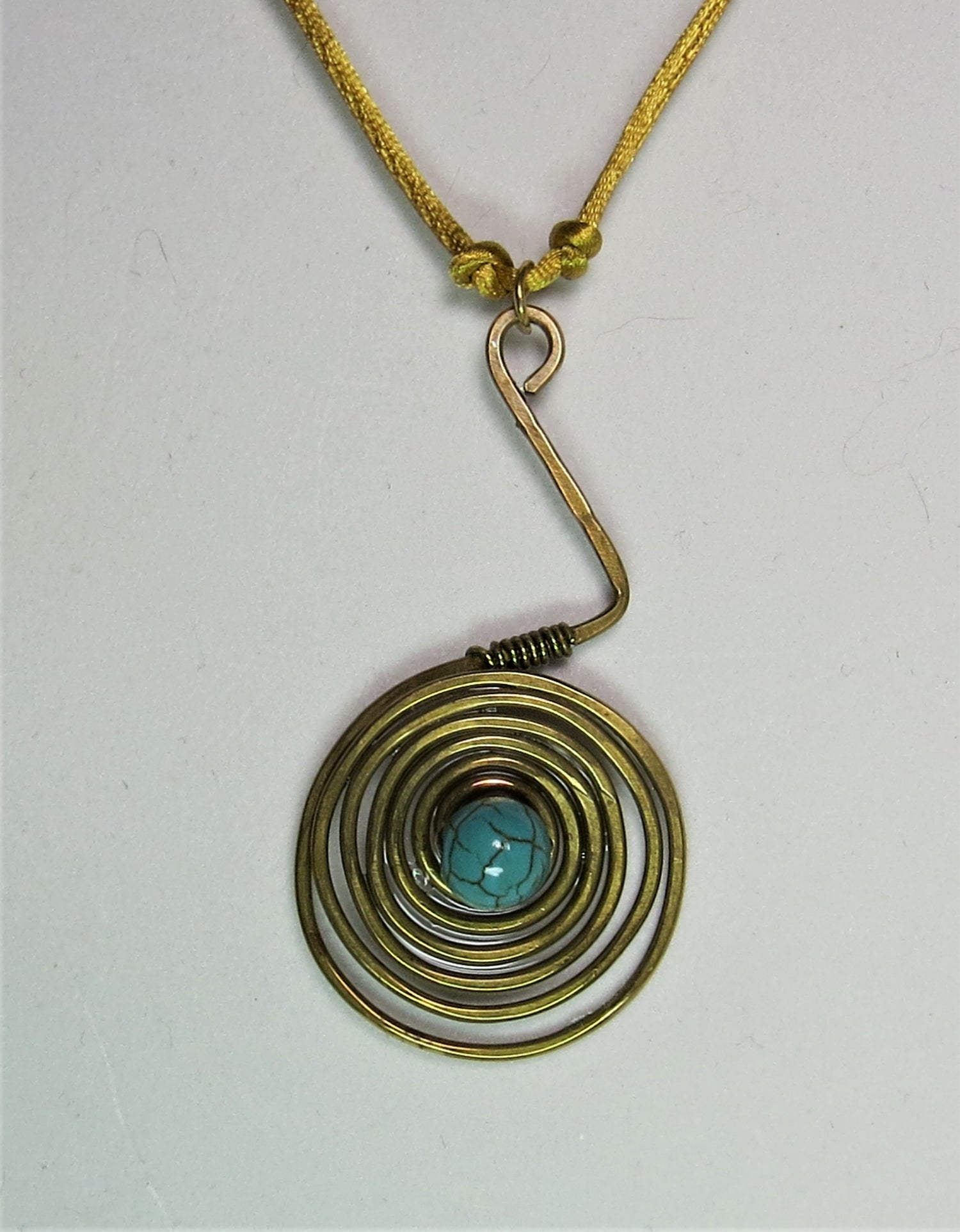 Image of Spiral Blue Necklace