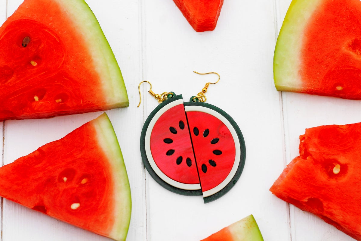Image of Watermelon Slice Earrings