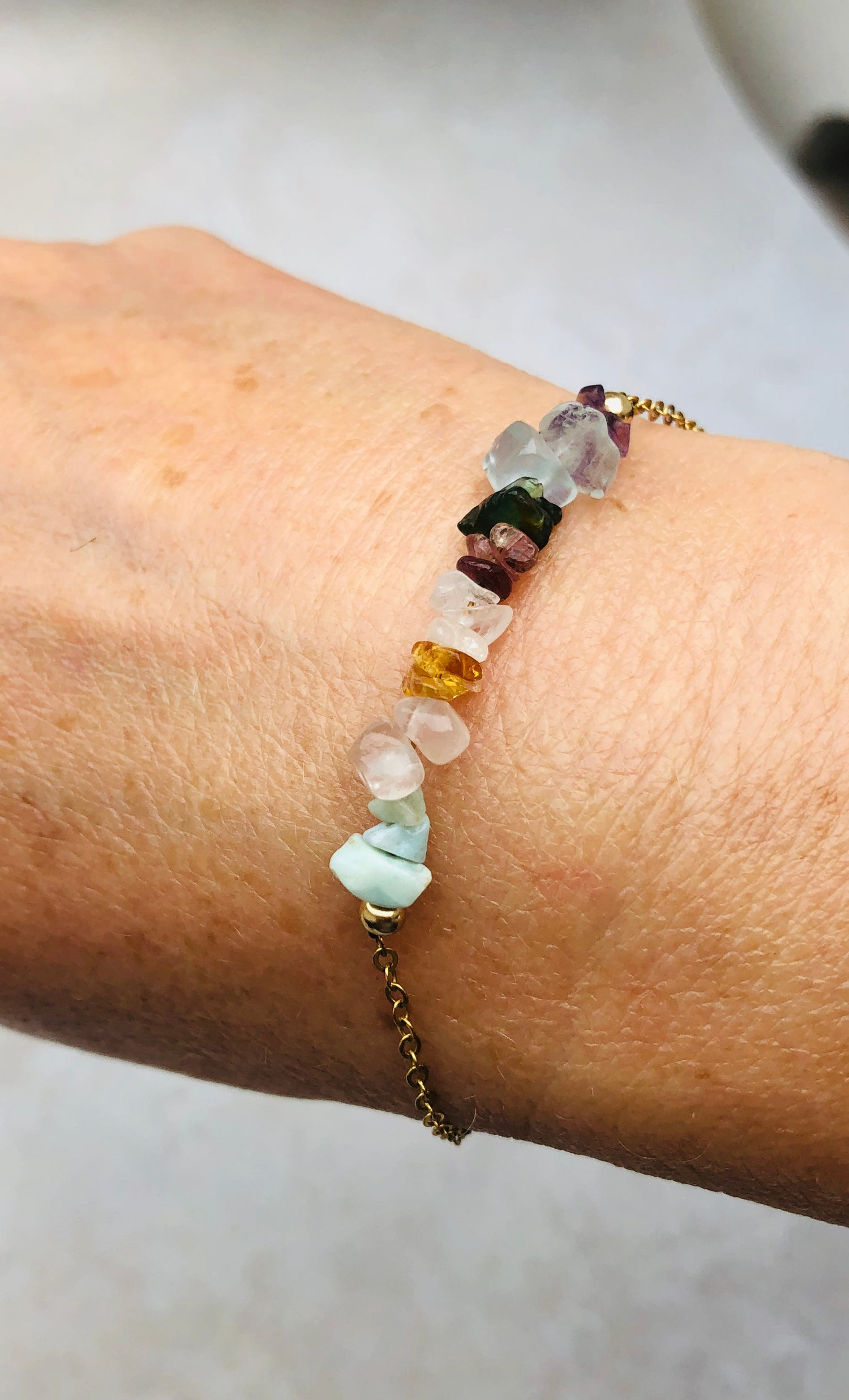 Image of Personal Bracelet: choose from 2 to 14 Gemstones