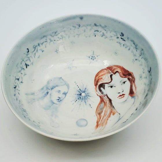 "Image of ""Dreaming of a Stardust Sister"" Porcelain Bowl"