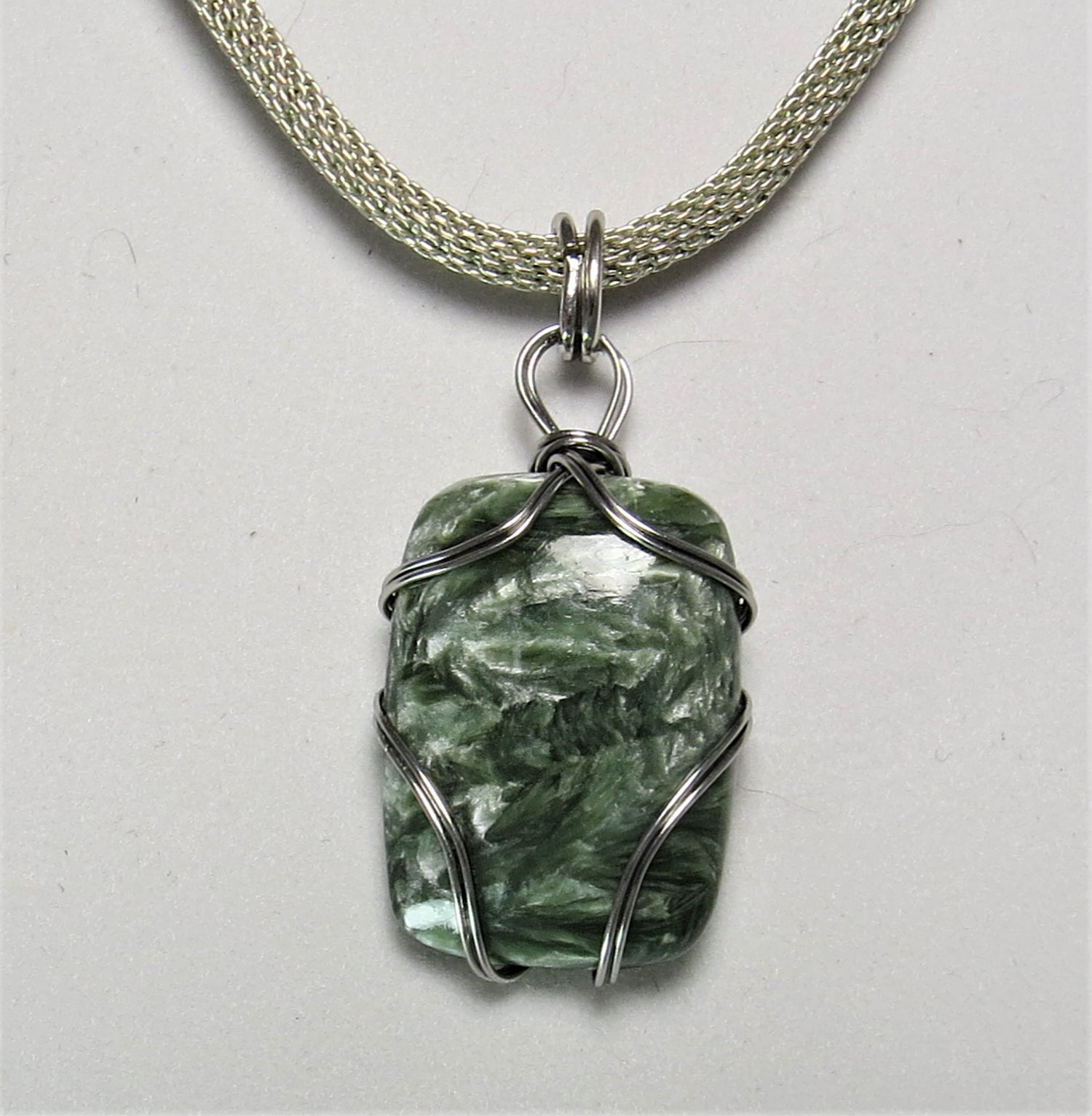 Image of Swirlsome Seraphinite Necklace
