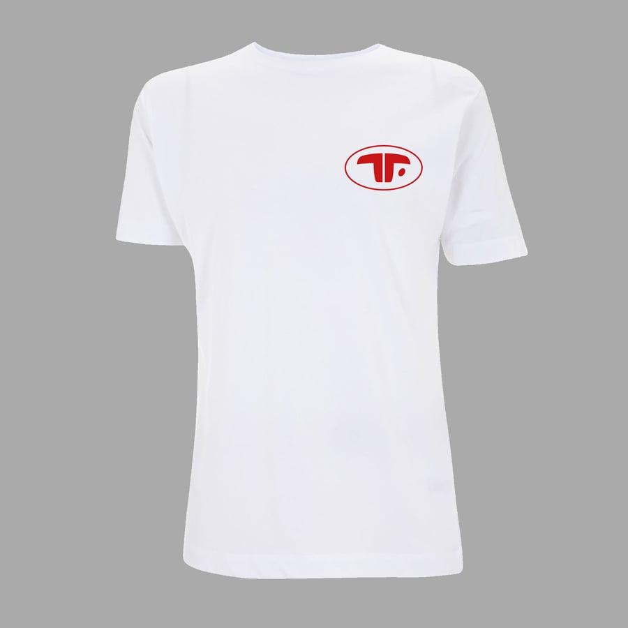 Image of T-SHIRT TROUBLES FETE ORIGINAL WHITE
