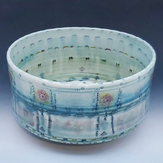 Image of Mandala Textile Serving Porcelain Bowl