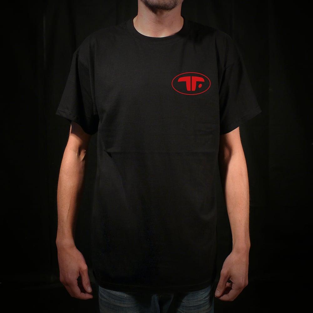 Image of T-SHIRT TROUBLES FETE ORIGINAL BLACK