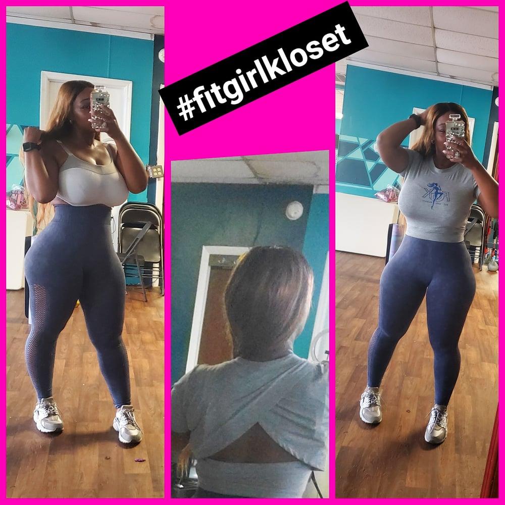 Image of Mesh side panel high waist leggings