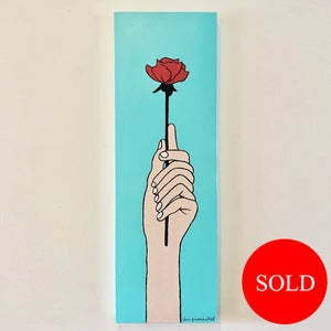 Image of A gift of a rose canvas painting