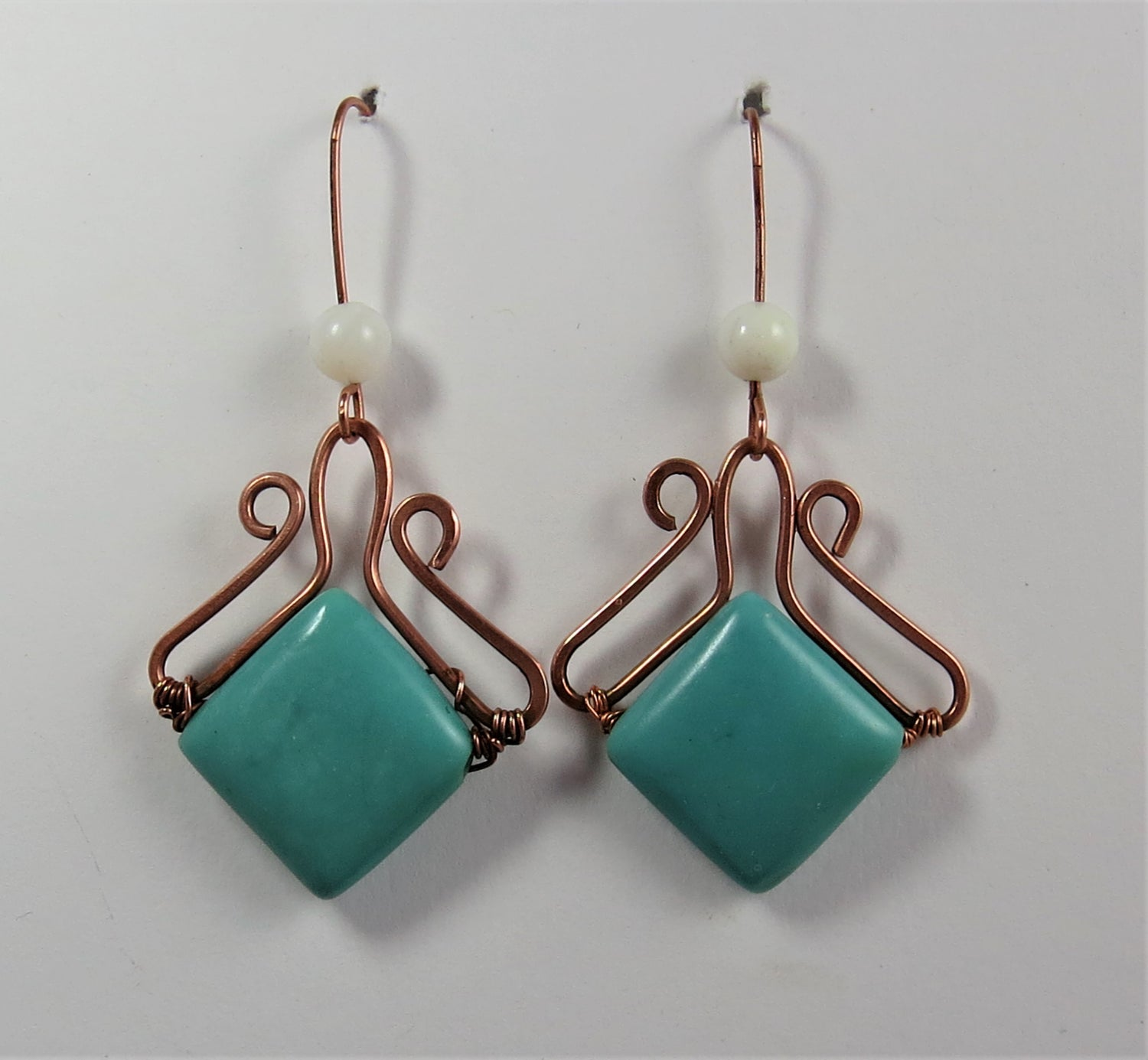 Image of Dainty Blue Earrings
