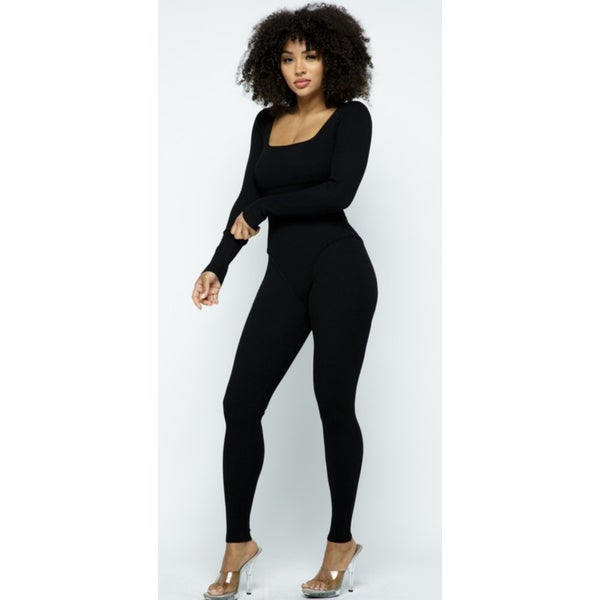 Image of Day Party Jumpsuit (Black)