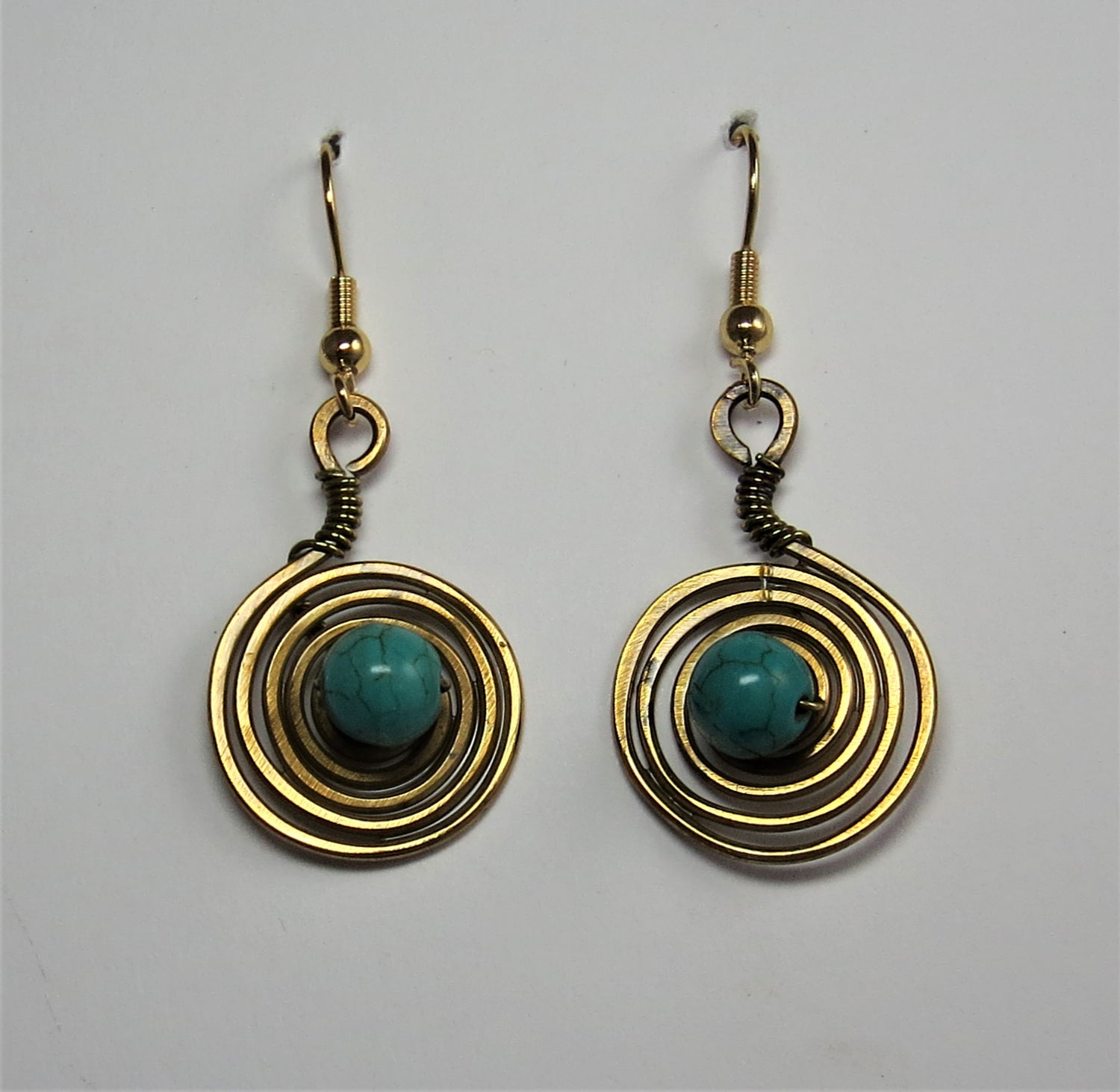 Image of Spiral Blue Earrings