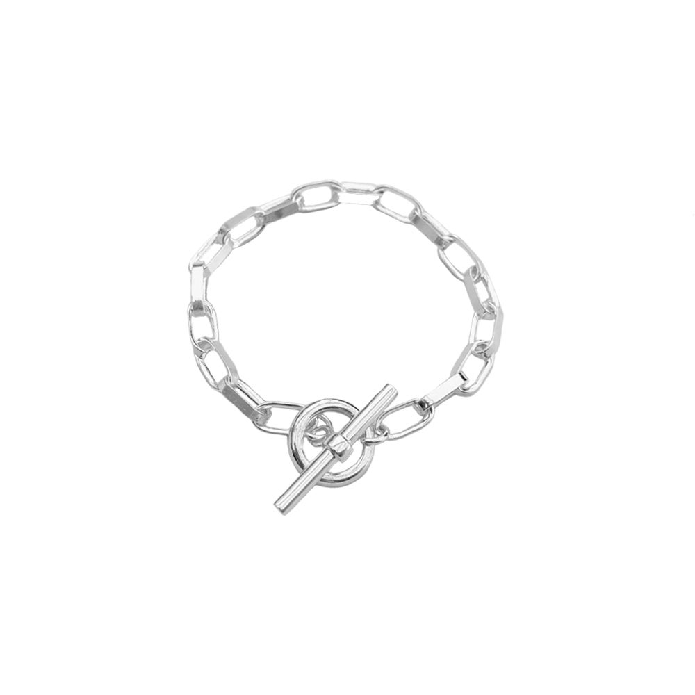 Image of Silver chunky chain bracelet