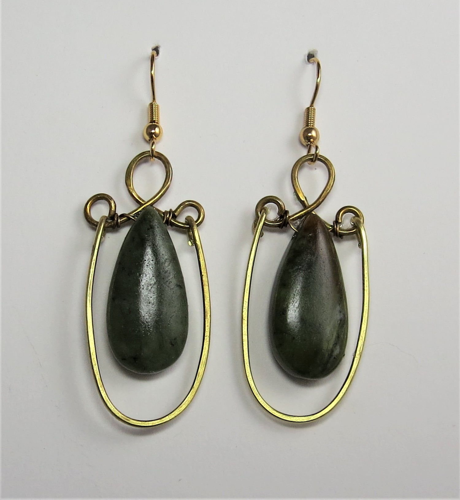 Image of Supreme Green Serpentine Earrings