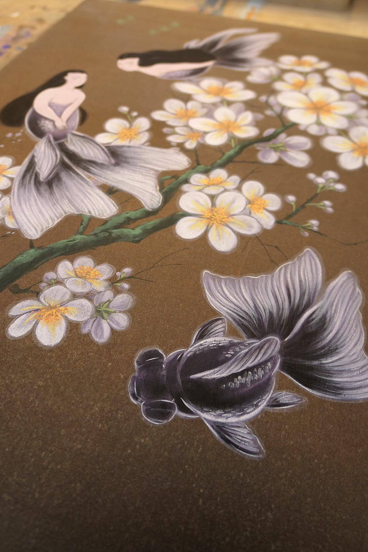 Sirens - Goldfish Mermaids and Plum Blossoms