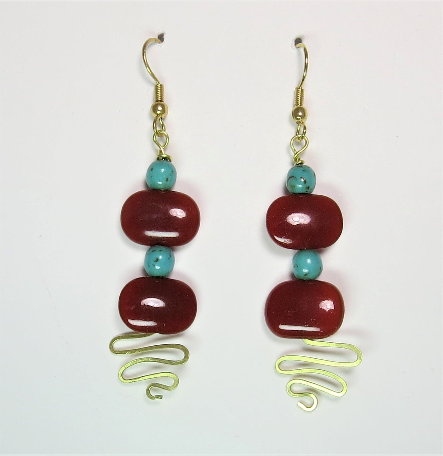 Image of Carnelian Squiggle Earrings