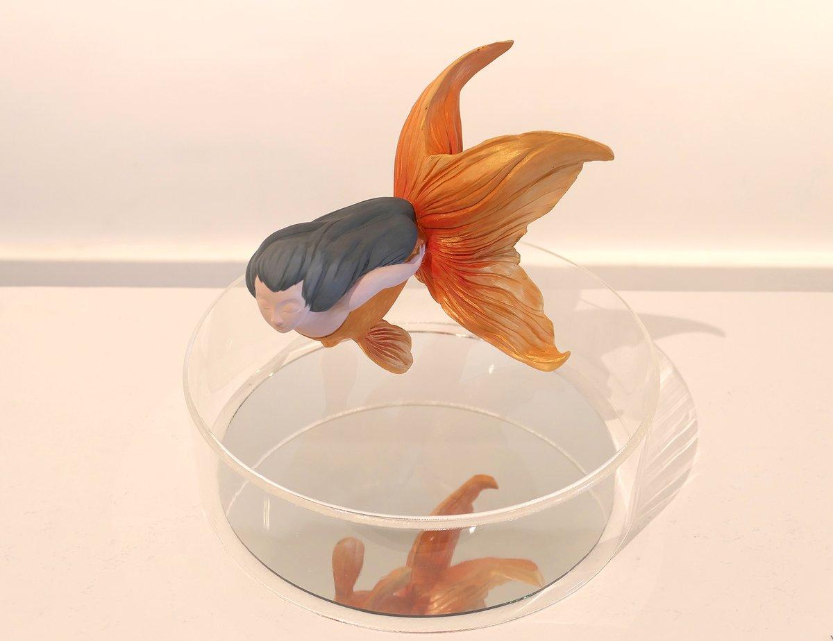 Goldfish Mermaid Original Sculpture - Wisdom