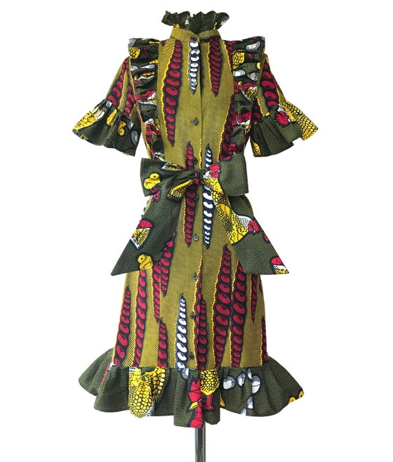 Image of African Wax shirt dress