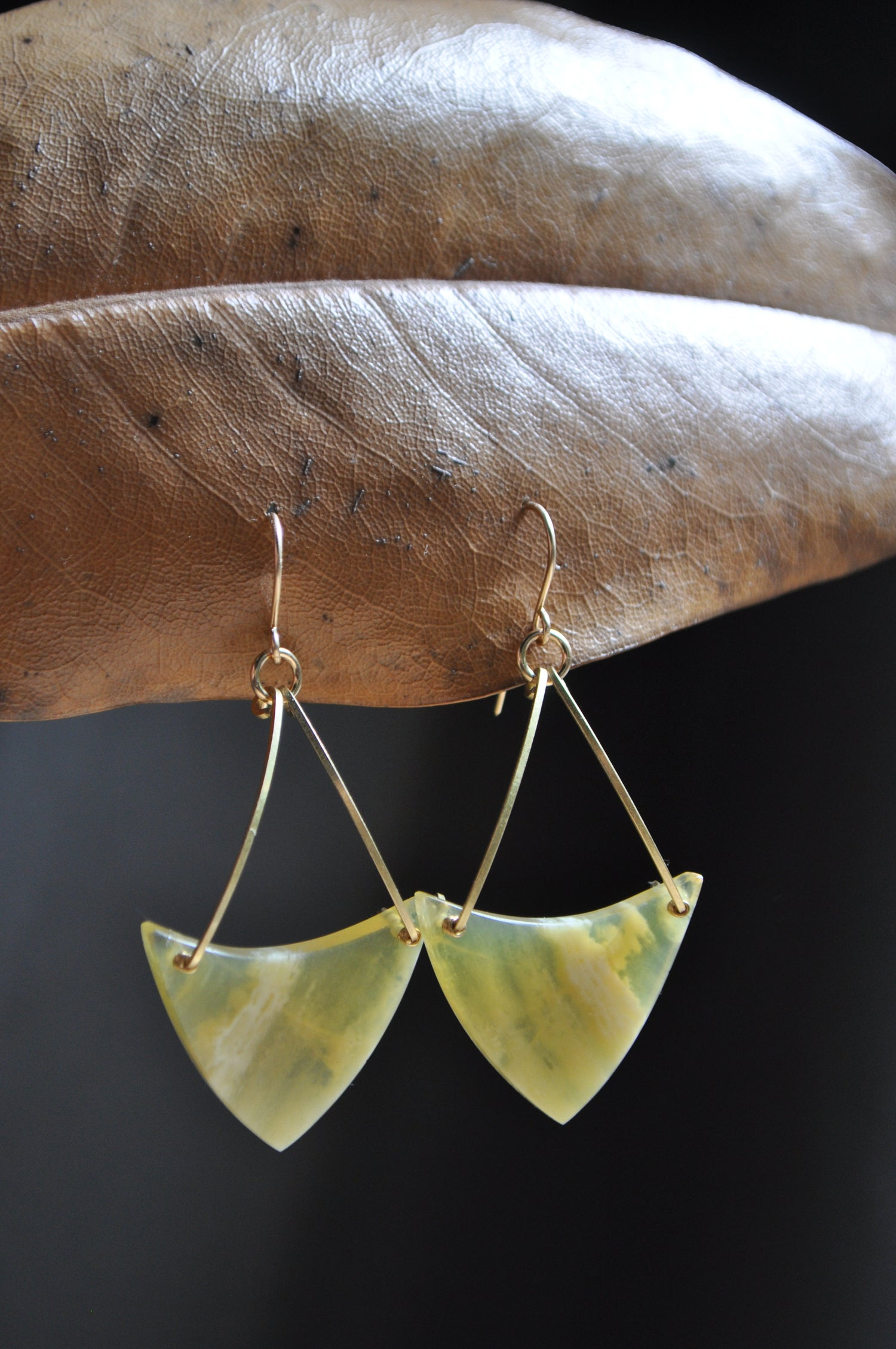 Image of One of a Kind Yellow Opal Dangles
