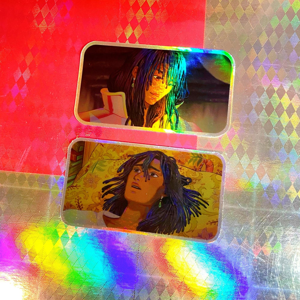Howl Holographic Stickers