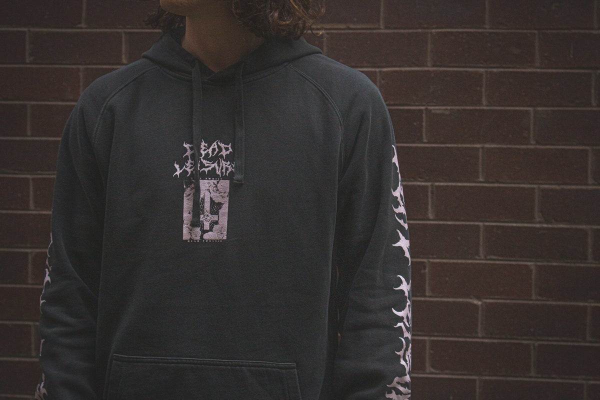 Dead Forever Pullover Hood - Charcoal