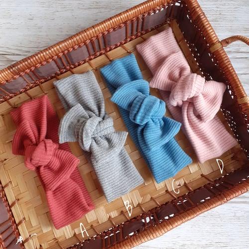 Image of Ribbed Topknot Headbands