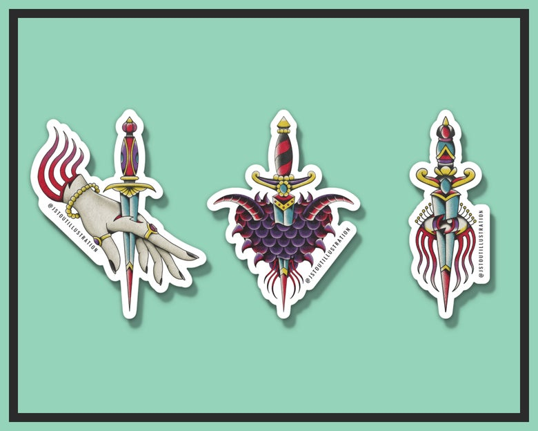 """Image of """"SIN"""" - INDIVIDUAL STICKERS"""