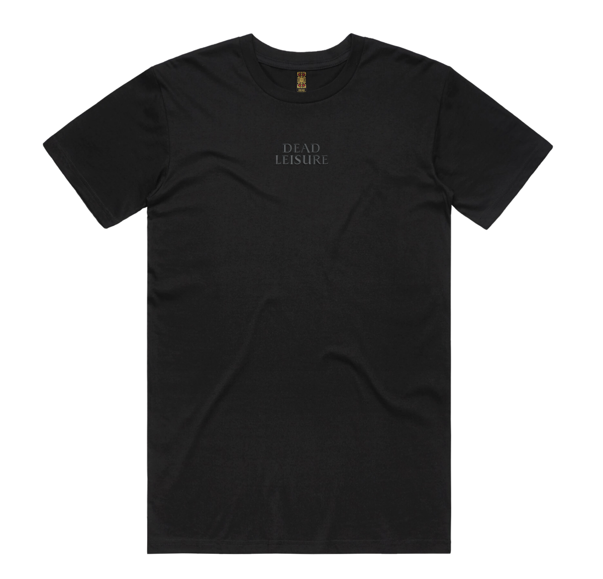 Dead Leisure Embroidered logo T-shirt - Black