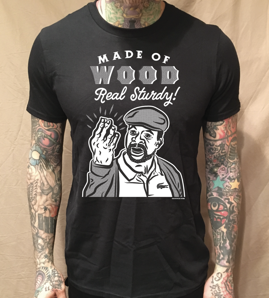 Image of CHUBBS REAL STURDY BLACK TEE