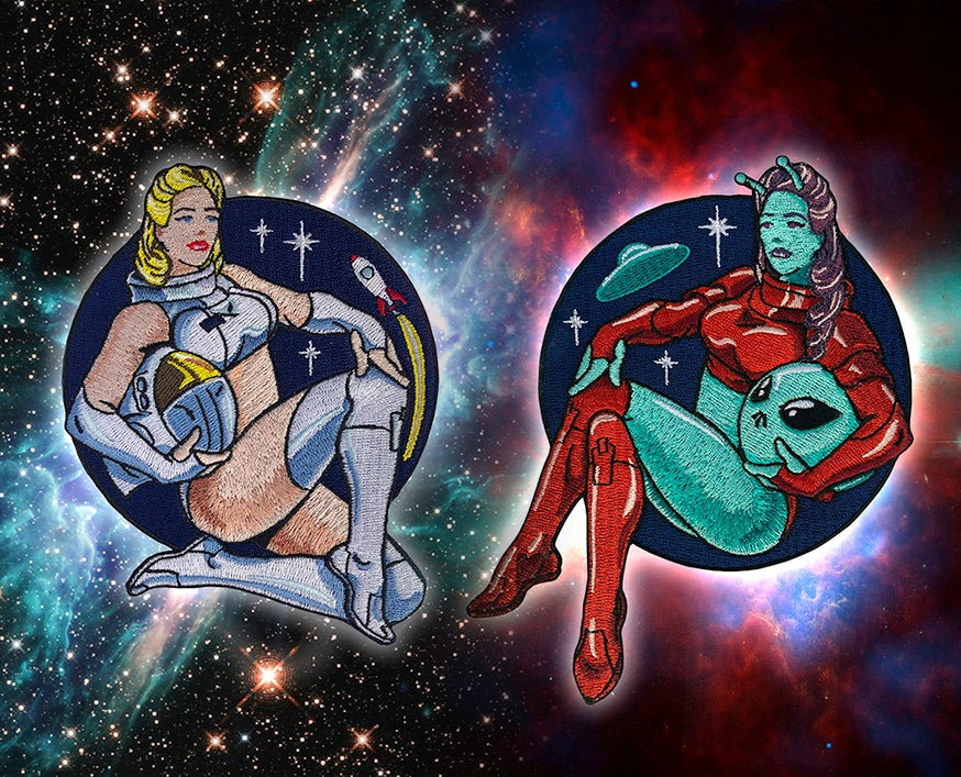 Image of Astro & Alien Pinup