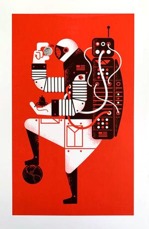 Image of Astro-Man Riso Print