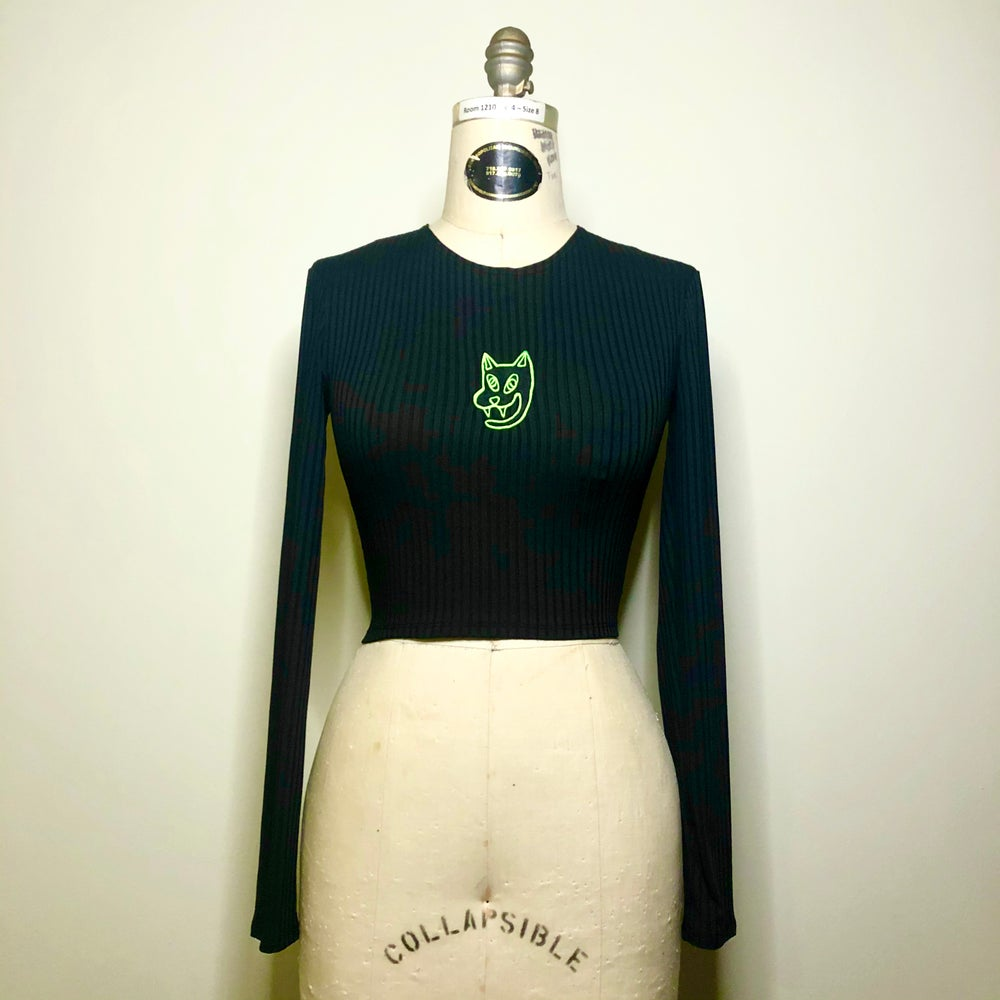 Image of BCATTA embroidered long sleeve top