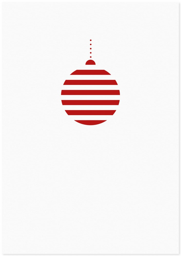 Image of christmas bauble red