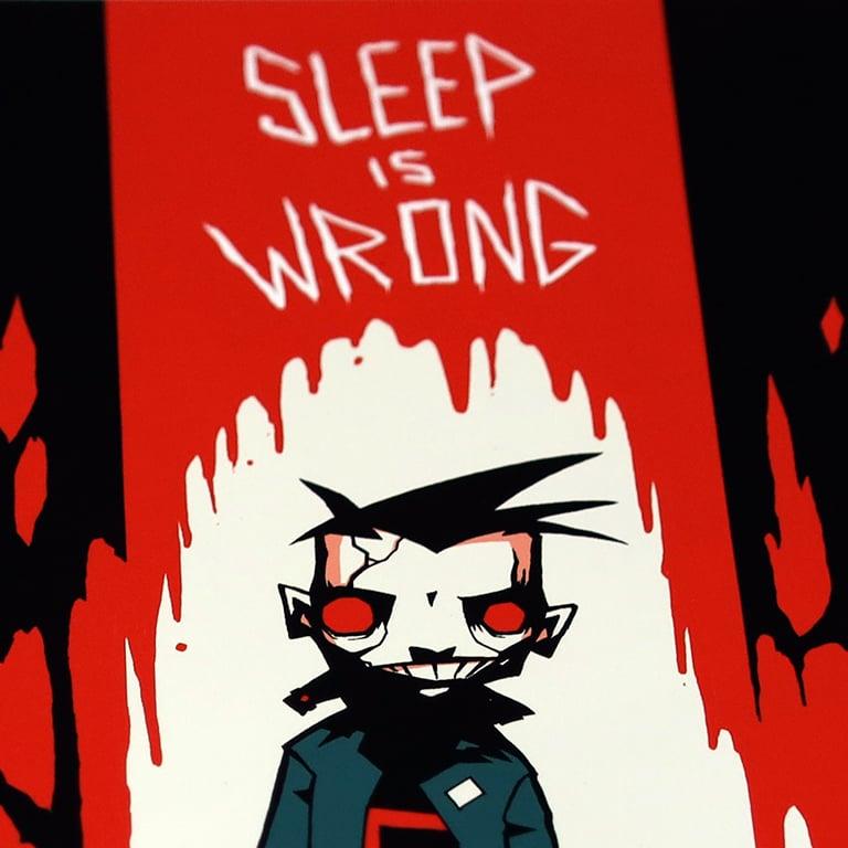 Image of JTHM - Sleep is Wrong Miniprint - signed