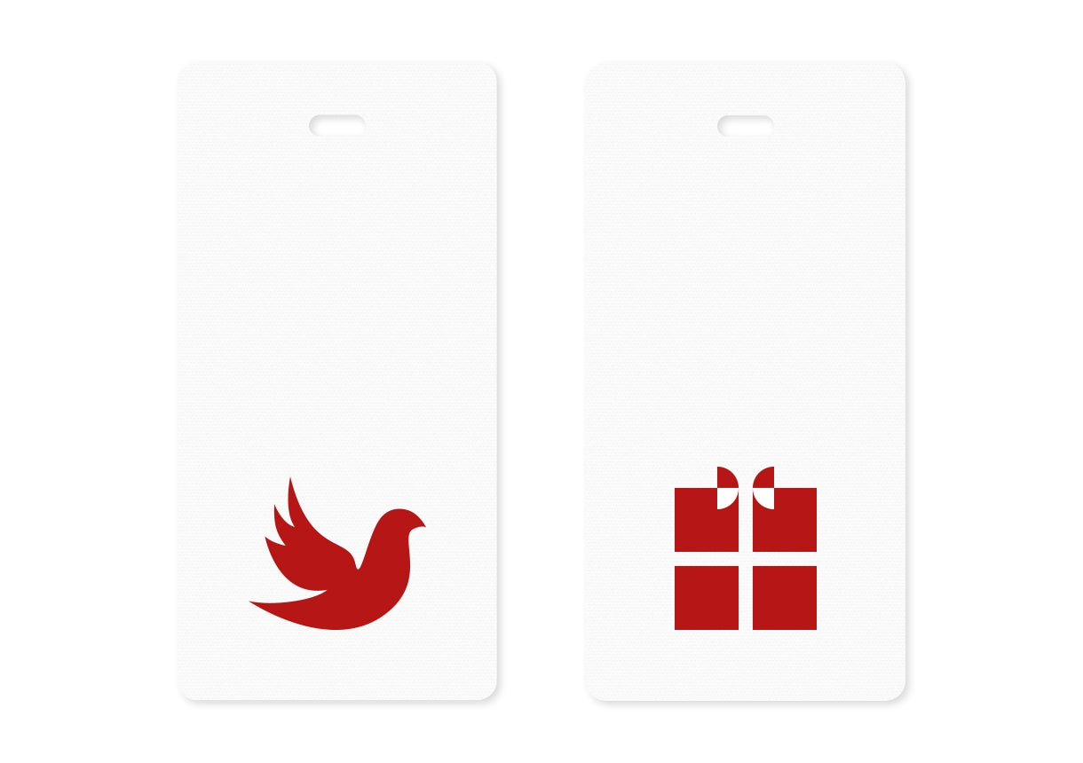 Image of christmas gift tags | red {10}