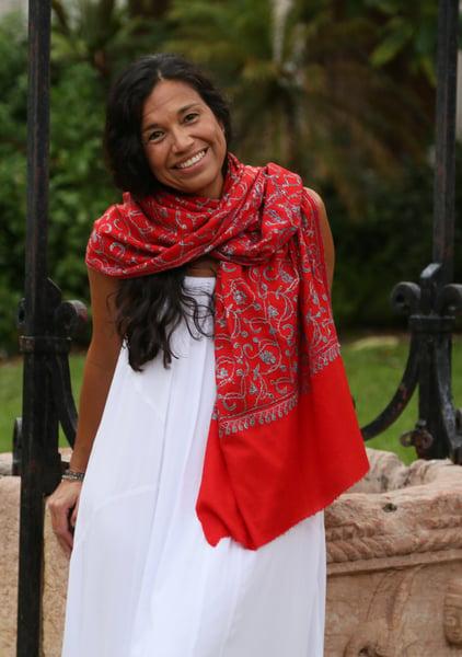 Image of Red pashmina