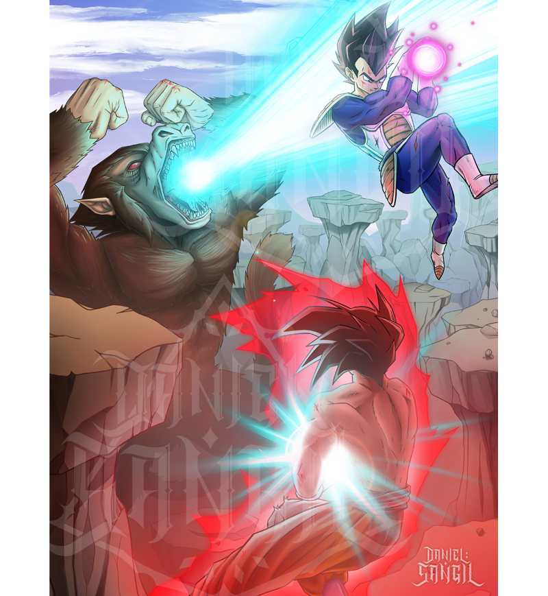 Goku VS Vegeta VS Ozaru