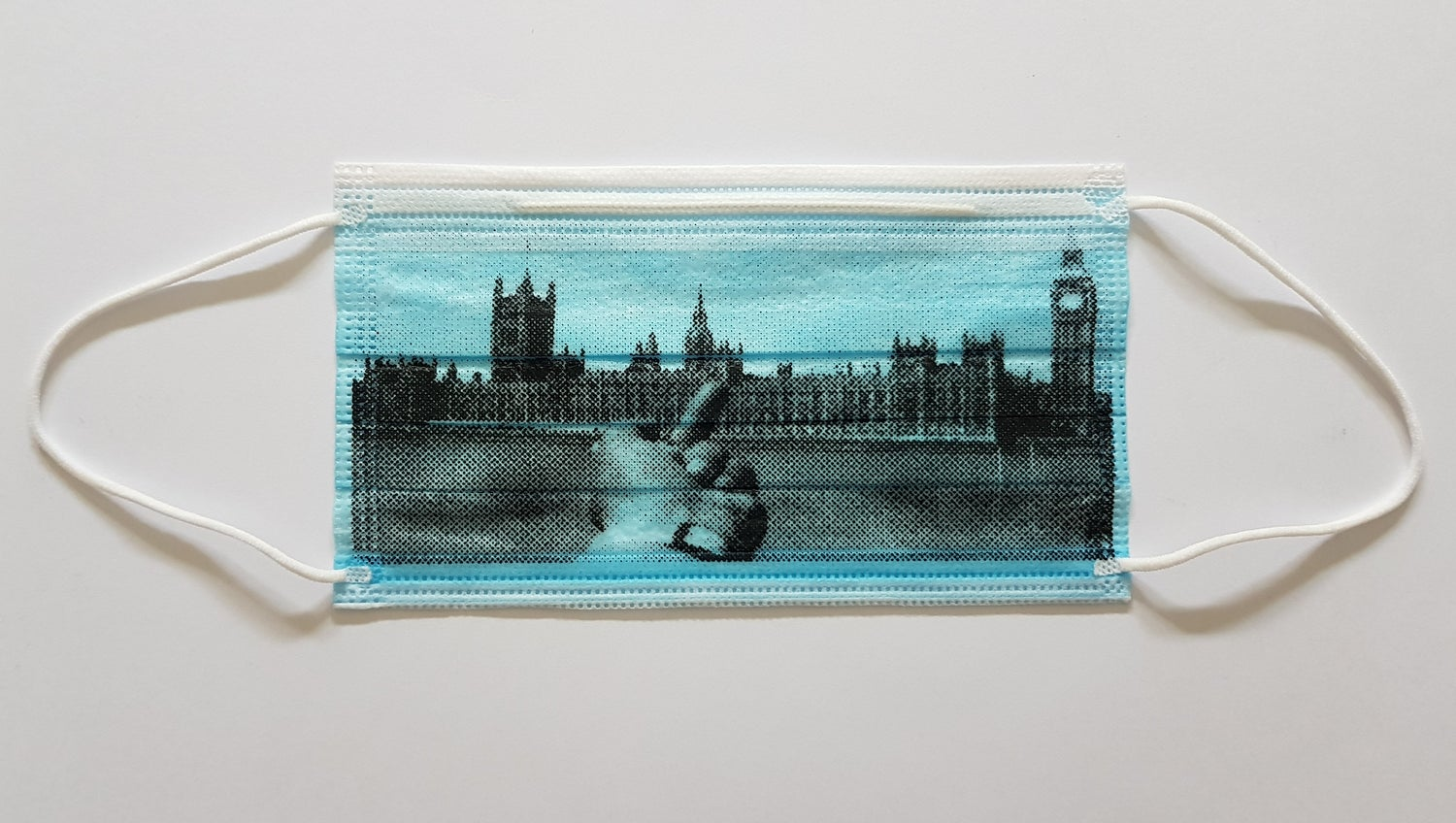 """Image of AI WEIWEI - """"FINGER SERIES - HOUSES OF PARLIMENT"""" LIMITED EDITION SILKSCREEN PRINTED MASK"""
