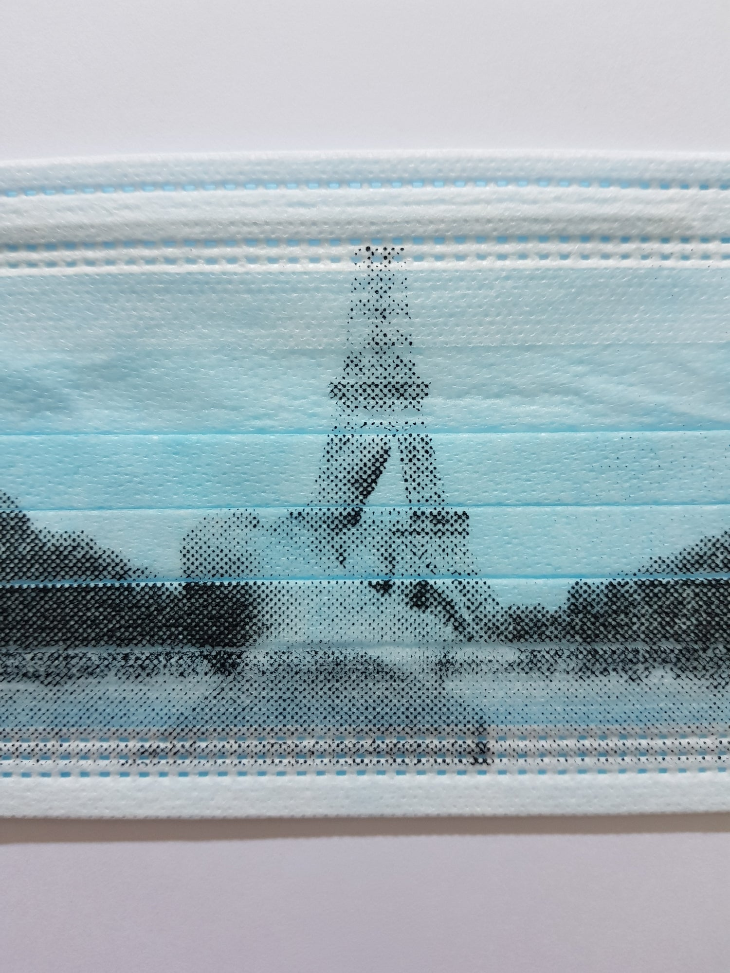 """Image of AI WEIWEI - """"FINGER SERIES - EIFFEL TOWER"""" LIMITED EDITION SILKSCREEN PRINTED MASK"""
