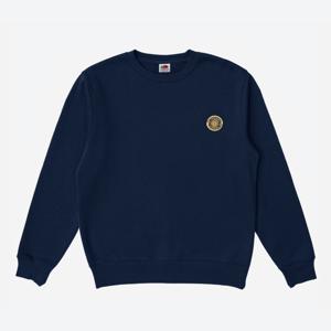 Embroidered Sweatshirt: Navy